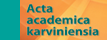 Acta academica karviniensia